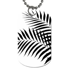Palm Leaves Dog Tag (two Sides)