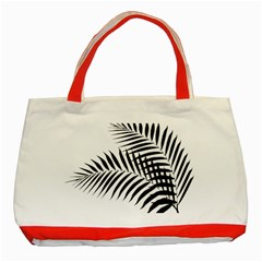 Palm Leaves Classic Tote Bag (red) by AnjaniArt