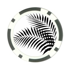 Palm Leaves Poker Chip Card Guard