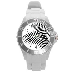Palm Leaves Round Plastic Sport Watch (l) by AnjaniArt