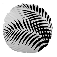 Palm Leaves Large 18  Premium Round Cushions