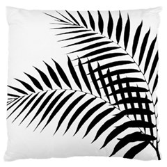 Palm Leaves Large Flano Cushion Case (one Side) by AnjaniArt