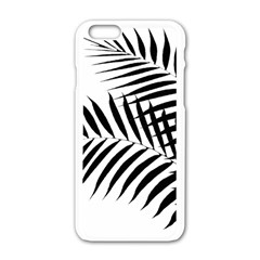 Palm Leaves Apple Iphone 6/6s White Enamel Case by AnjaniArt