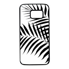 Palm Leaves Samsung Galaxy S7 Black Seamless Case