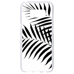 Palm Leaves Samsung Galaxy S8 White Seamless Case