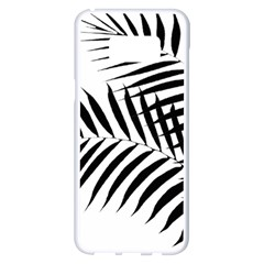 Palm Leaves Samsung Galaxy S8 Plus White Seamless Case