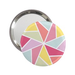 Star Triangle Rainbow Geometric Line 2 25  Handbag Mirrors by AnjaniArt