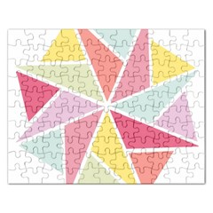 Star Triangle Rainbow Geometric Line Rectangular Jigsaw Puzzl