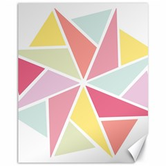 Star Triangle Rainbow Geometric Line Canvas 11  X 14