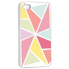 Star Triangle Rainbow Geometric Line Apple Iphone 4/4s Seamless Case (white) by AnjaniArt