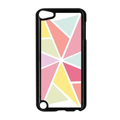 Star Triangle Rainbow Geometric Line Apple Ipod Touch 5 Case (black) by AnjaniArt