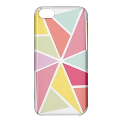 Star Triangle Rainbow Geometric Line Apple Iphone 5c Hardshell Case by AnjaniArt