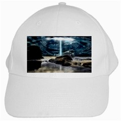 Space Galaxy Hole White Cap