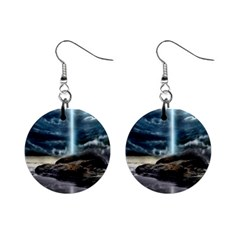 Space Galaxy Hole Mini Button Earrings
