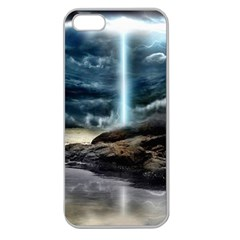 Space Galaxy Hole Apple Seamless Iphone 5 Case (clear) by AnjaniArt