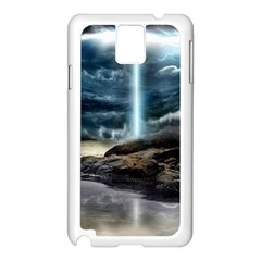 Space Galaxy Hole Samsung Galaxy Note 3 N9005 Case (white) by AnjaniArt