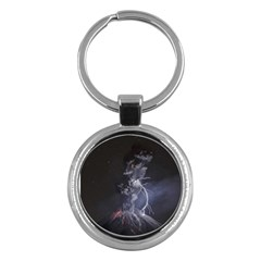 Star Night Volcano Lightning Wallpapers Flash Strom Key Chains (round)  by AnjaniArt