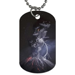Star Night Volcano Lightning Wallpapers Flash Strom Dog Tag (two Sides) by AnjaniArt