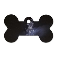 Star Night Volcano Lightning Wallpapers Flash Strom Dog Tag Bone (two Sides) by AnjaniArt