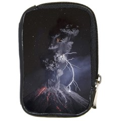 Star Night Volcano Lightning Wallpapers Flash Strom Compact Camera Leather Case by AnjaniArt