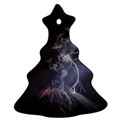 Star Night Volcano Lightning Wallpapers Flash Strom Christmas Tree Ornament (two Sides) by AnjaniArt