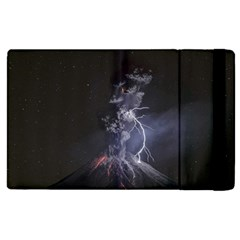Star Night Volcano Lightning Wallpapers Flash Strom Apple Ipad 3/4 Flip Case by AnjaniArt