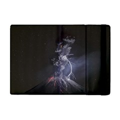Star Night Volcano Lightning Wallpapers Flash Strom Apple Ipad Mini Flip Case by AnjaniArt