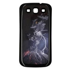 Star Night Volcano Lightning Wallpapers Flash Strom Samsung Galaxy S3 Back Case (black)