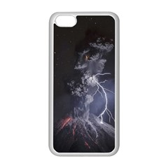 Star Night Volcano Lightning Wallpapers Flash Strom Apple Iphone 5c Seamless Case (white) by AnjaniArt