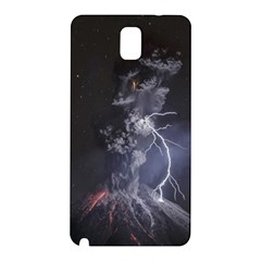 Star Night Volcano Lightning Wallpapers Flash Strom Samsung Galaxy Note 3 N9005 Hardshell Back Case by AnjaniArt