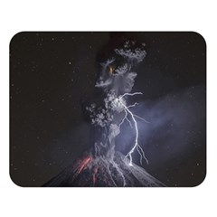 Star Night Volcano Lightning Wallpapers Flash Strom Double Sided Flano Blanket (large)