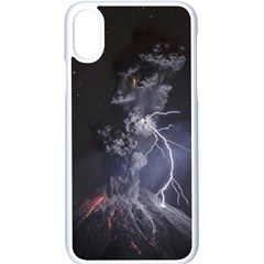 Star Night Volcano Lightning Wallpapers Flash Strom Apple Iphone X Seamless Case (white)