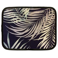 Palm Leaves Painting Grey Netbook Case (xl) by AnjaniArt