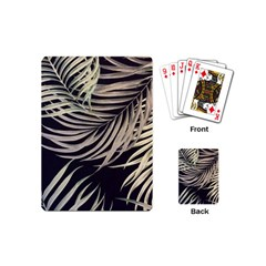 Palm Leaves Painting Grey Playing Cards (mini)