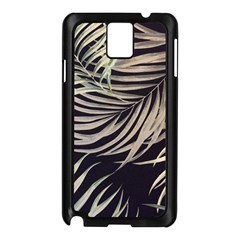 Palm Leaves Painting Grey Samsung Galaxy Note 3 N9005 Case (black)