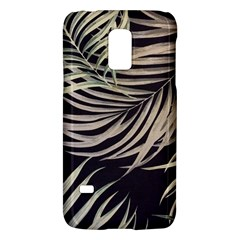 Palm Leaves Painting Grey Samsung Galaxy S5 Mini Hardshell Case