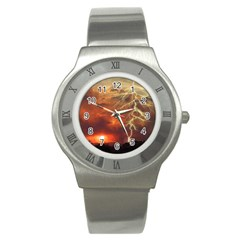 Sunset Lighting Filage Summer Stainless Steel Watch by AnjaniArt