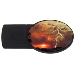 Sunset Lighting Filage Summer Usb Flash Drive Oval (4 Gb) by AnjaniArt