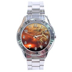 Sunset Lighting Filage Summer Stainless Steel Analogue Watch by AnjaniArt