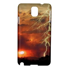 Sunset Lighting Filage Summer Samsung Galaxy Note 3 N9005 Hardshell Case by AnjaniArt
