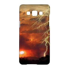 Sunset Lighting Filage Summer Samsung Galaxy A5 Hardshell Case  by AnjaniArt