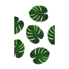 Tropical Imitation Green Leaves Hawaiian Green Shower Curtain 48  X 72  (small)  by AnjaniArt