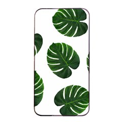 Tropical Imitation Green Leaves Hawaiian Green Apple Iphone 4/4s Seamless Case (black) by AnjaniArt