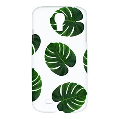 Tropical Imitation Green Leaves Hawaiian Green Samsung Galaxy S4 I9500/i9505 Hardshell Case