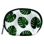Tropical Imitation Green Leaves Hawaiian Green Accessory Pouch (Medium) Front