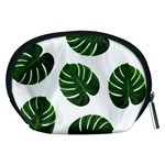 Tropical Imitation Green Leaves Hawaiian Green Accessory Pouch (Medium) Back