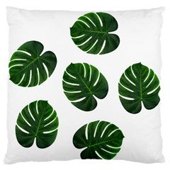 Tropical Imitation Green Leaves Hawaiian Green Standard Flano Cushion Case (two Sides)