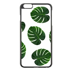 Tropical Imitation Green Leaves Hawaiian Green Apple Iphone 6 Plus/6s Plus Black Enamel Case