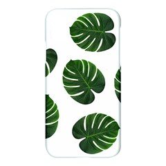 Tropical Imitation Green Leaves Hawaiian Green Apple Iphone X Hardshell Case by AnjaniArt