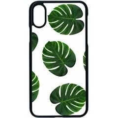 Tropical Imitation Green Leaves Hawaiian Green Apple Iphone X Seamless Case (black) by AnjaniArt